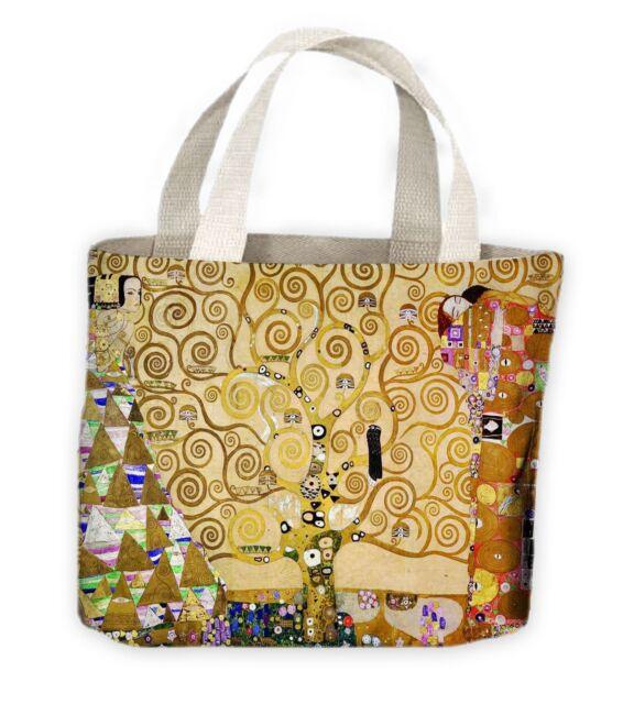 Gustav Klimt Tree of Life Tote Shopping Bag For Life Women