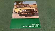 November 1976 / 1977 VOLVO 66 GL SALOON - UK COLOUR LEAFLET BROCHURE