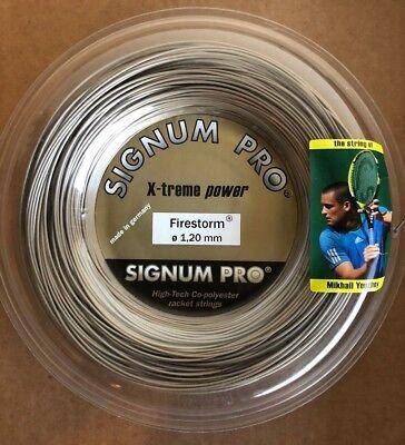 Reel Gold Metallic Firestorm 1.25mm Signum Pro 200m Tennis String