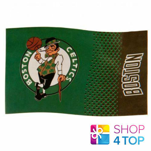 BOSTON CELTICS OFFICIAL AMERICAN BASKETBALL M NBA LARGE FLAG NEW