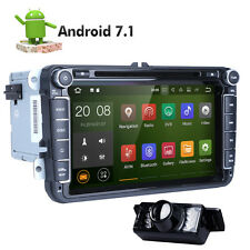 """GPS Navi 8"""" Android 7.1 Car Stereo DVD Player Radio WiFi USB for VW HD 2Din+CAM"""