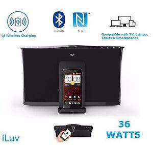 ILuv 36 W Bluetooth NFC Universel Haut-parleurs sans fil Station d'accueil Qi Chargeur