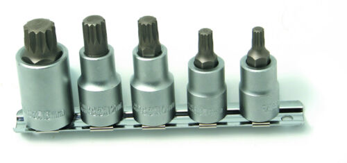 8510  5 PC STUBBY TRIPLE SQUARE SOCKET SET