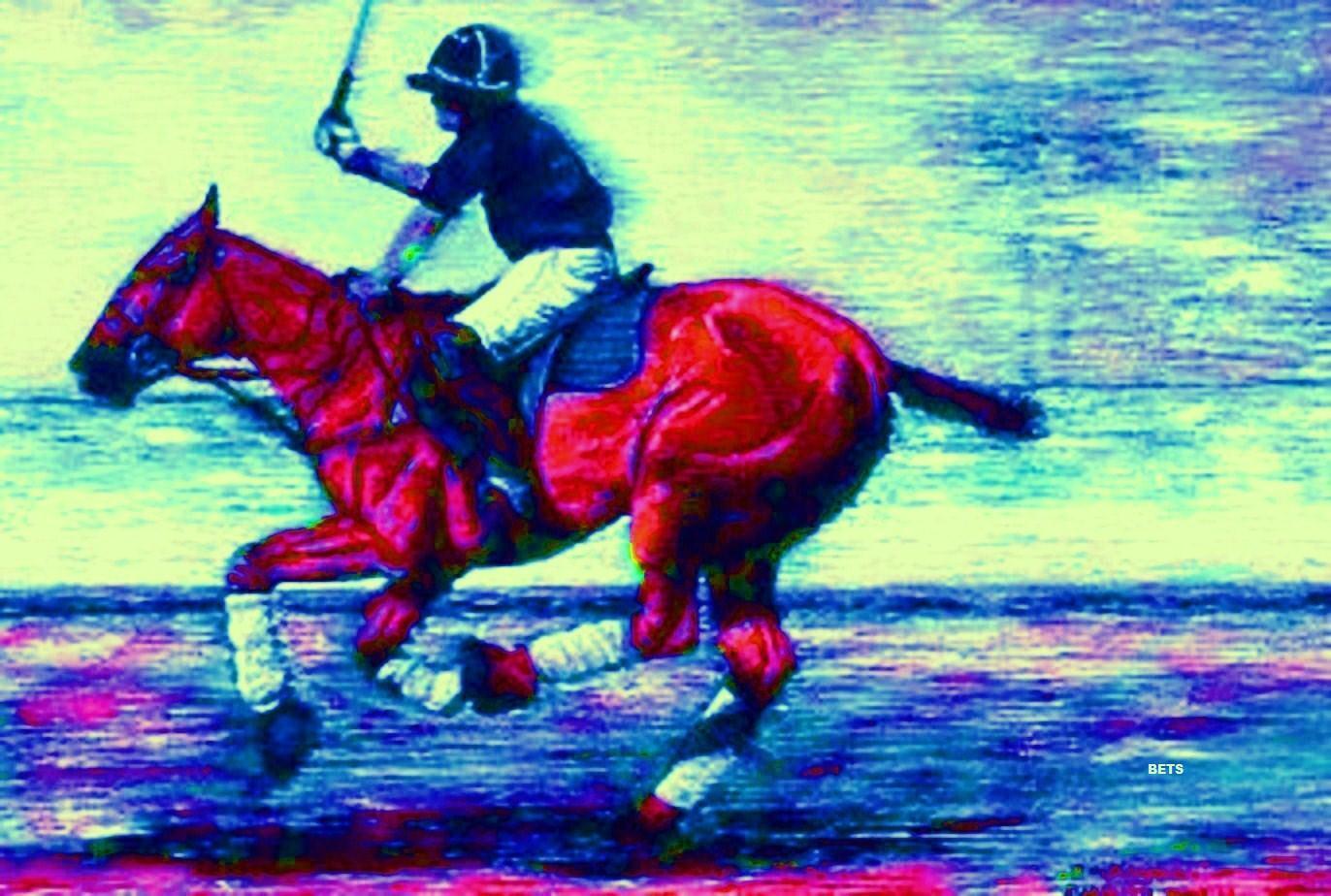 Impresión de  Giclee Polo Caballo por el campo artista apuestas impresión de 6 Colors Tamaño 14 X 19  el mejor servicio post-venta