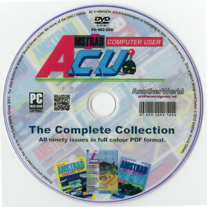 AMSTRAD-COMPUTER-USER-MAGAZINE-Full-Collection-Disk-ACU-PCW-CPC-664-6128-Games
