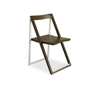 CONNUBIA CALLIGARIS SKIP set da 2 sedie pieghevoli Wengè   eBay