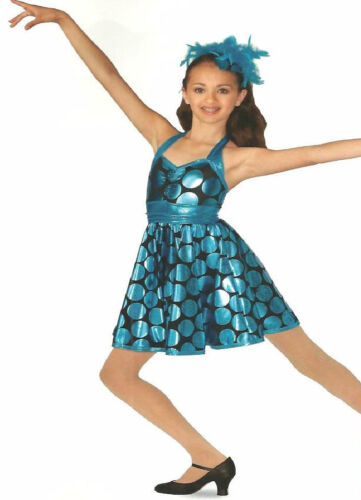 Zing Went The String Dance Costume Polka Dot Swing Dress Child Small Adult M/&L