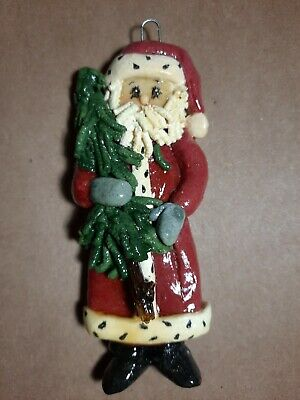 Christmas Ornament Santa Claus Bronze Gold St Nicholas Holiday Tree Decor NEW X