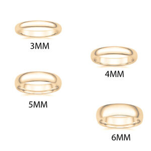 Paradise Jewelers 10K Solid Yellow Gold 5mm Wedding Band Ring