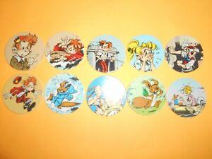 303 Pogs Pog Caps Milkcaps Flippo : Lot De 10 Spirou Caps 1995
