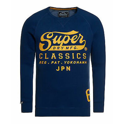 New Mens Superdry Factory Second Classic Crew Supermarine Navy
