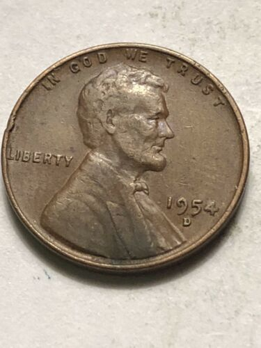 Low Shipping Lot M03 1954 D Lincoln Wheat Cent Extra Fine Plus Penny XF