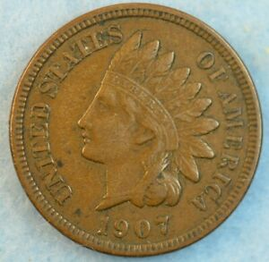 1907-Indian-Head-Cent-Penny-Very-Nice-Old-Coin-Fast-S-amp-H-422