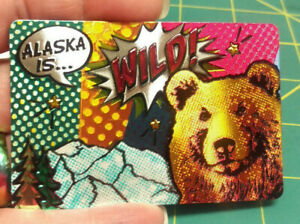 Alaska-Magnet-Alaska-Is-Wild-with-grizzly-comic-book-theme-Colorful-Foil