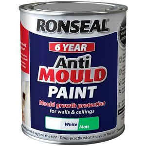 ronseal 6 year anti mould white matt paint for walls and. Black Bedroom Furniture Sets. Home Design Ideas