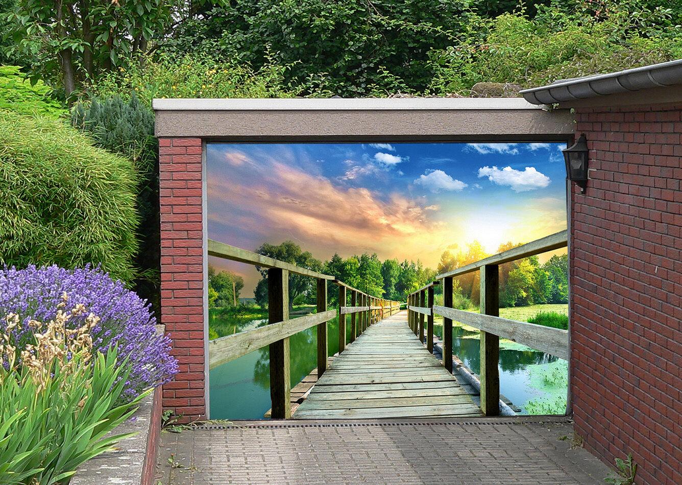3D Ponte Legno Legno Legno 016 Garage Porta Stampe Parete Decorazione Murale AJ WALLPAPER IT 0dcc30