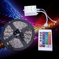 Waterproof 5M SMD RGB 5050 Strip light 300 LED + 24 Key IR Remote 12V 5A OO55