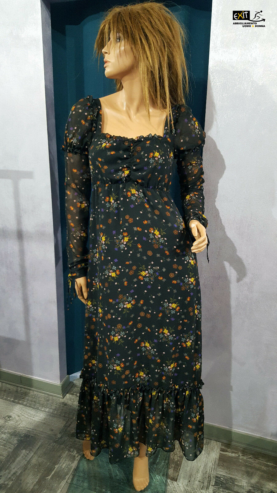 Denny Rosa langes Kleid gedruckt art. 721DD10013 Kollektion Herbst Winter 2017