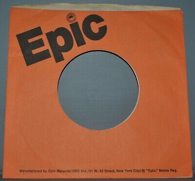 """Music 1x 45 Rpm Epic Orange Company Sleeve Original Record Sleeves 7"""" Let Our Commodities Go To The World"""