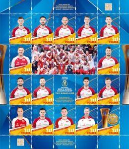 Poland-Polen-2018-Mi-S-S-5063-78-Men-039-s-Volleyball-World-Cup-Gold-Medals