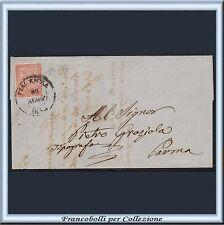 ASI 1853 Parma cent.15 vermiglio n. 7 Lettera da Piacenza Antichi Stati Italia