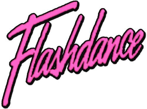 ✿✿✿ ✿✿✿ Flashdance Scuro Ferro su trasferimento Dance anni/'80 NUOVI colori disponibili!!