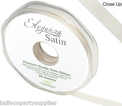 10mm x 20m Double Faced Satin Ribbon 30 Colours