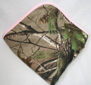 Realtree Camo Pink Baby Blanket Girl Camouflage