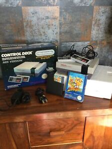 nintendo nes console boxed Control Deck With Game