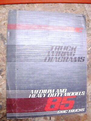 1985 Gmc Medium Heavy Duty Truck Factory Wiring Diagram Manual Forward Control Ebay