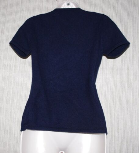 Kortærmet Neck Cashmere B S Sweater Størrelse V Wendy Women Navy Blue Petite qOf4wwFI