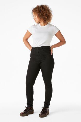 Le donne Nuovo di Zecca Donna Monki OKI slim//skinny vita alta jeans neri tutte le taglie.