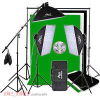 2850W Dauerlicht Set Softbox Hintergrund grün schwarz weiß Fotolampe FotoStudio