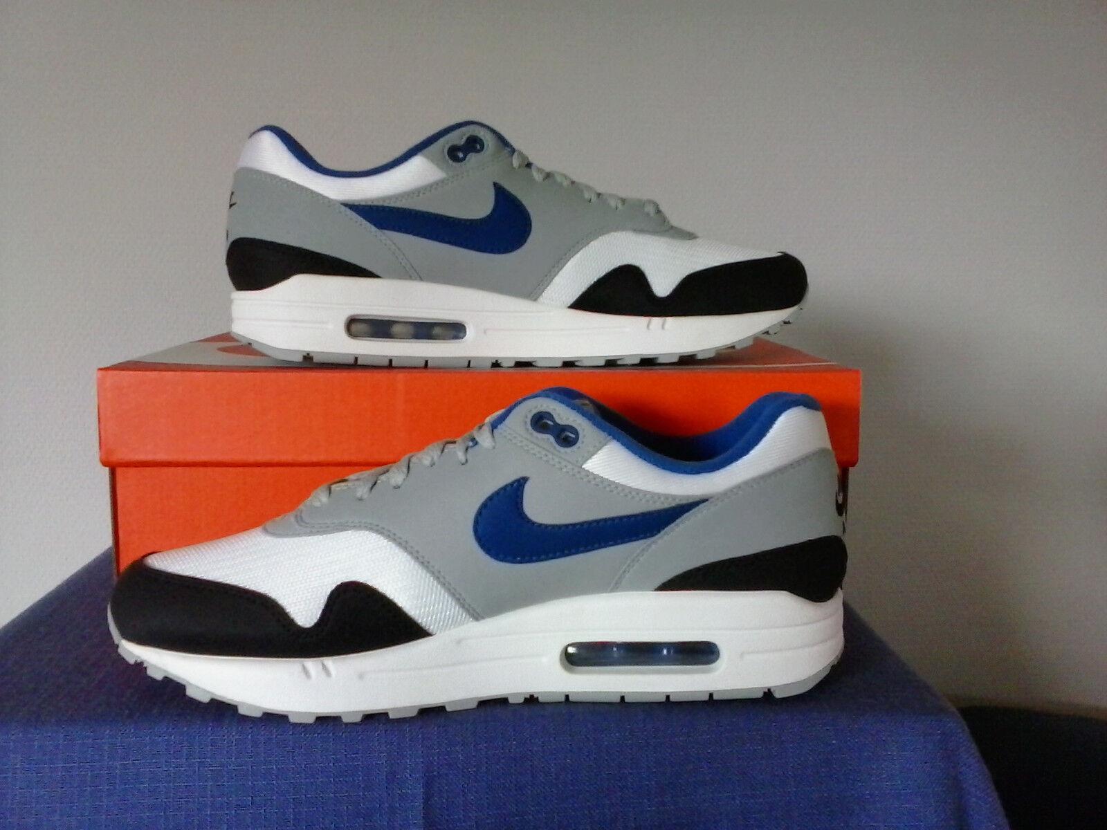 Nike Air Max 1 grau weiß schwarz blau (40,5   7,5 )