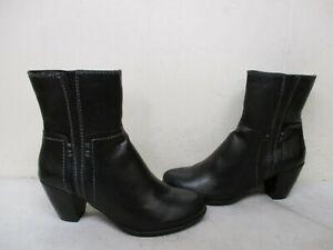 Natural Soul Winner Black Zip Ankle