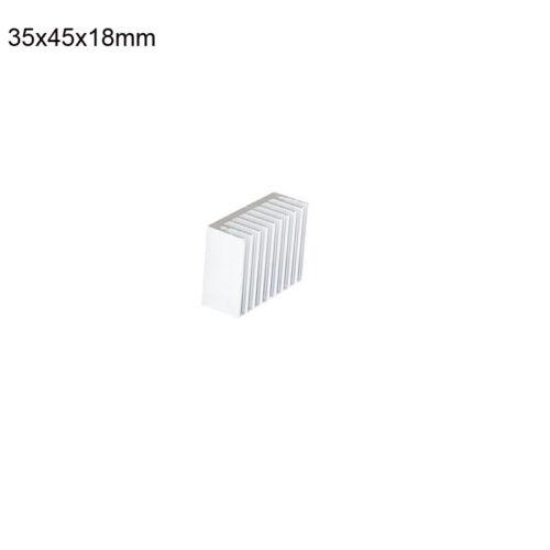Aluminum Heatsink Heat Sink Thermal Cooling Fin Blades 8.8-100mm Silver 1~10Pcs