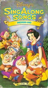Disney S Sing Along Songs Snow White Heigh Ho Vhs 12257531039 Ebay