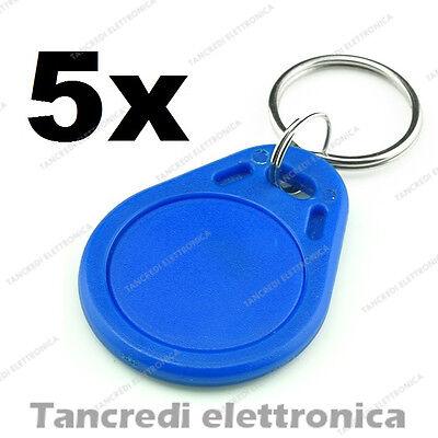 5 Tag RFID 13.56MHz Rosso RC522 chiave prossimità radiofrequenza portachiavi red