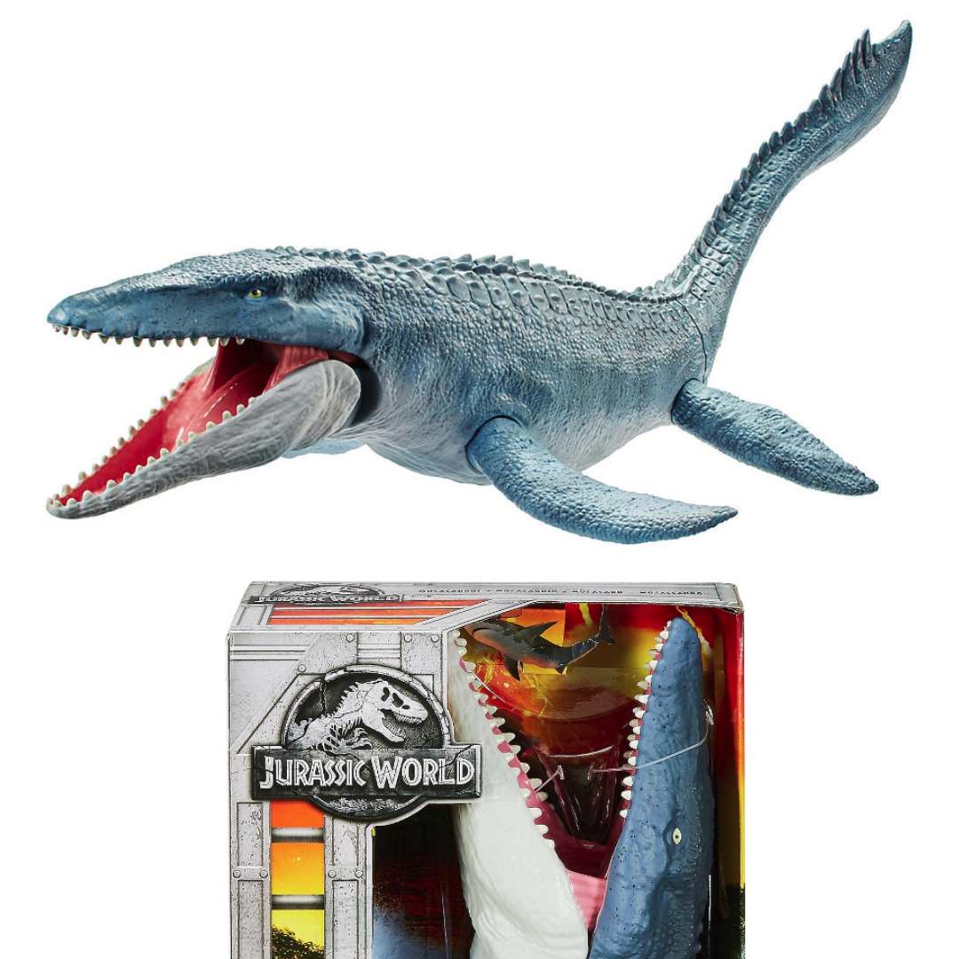 Mattel jurassic welt fühlen mosasaurus schwimmen abbildung gefallenen königreich spielzeug