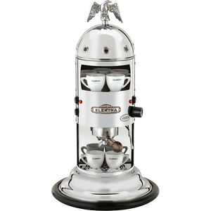 Elektra-Mini-Verticale-A1-Espresso-Coffee-amp-Cappuccino-Maker-Machine-Chrome-110V