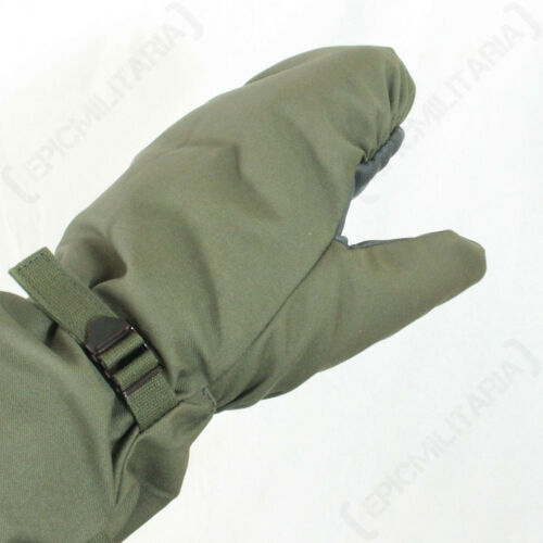 Winter Lined Faux Fur Military Surplus German Army Olive Green Winter Mittens