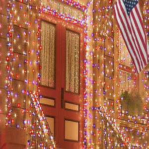 LED Solar Powered Fairy Lights Red White Blue Holidays