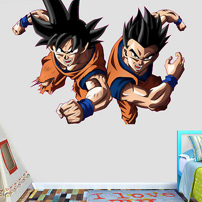 Dragon Ball Super Goku and Gohan Wall Decal Decor Stickers Vinyl