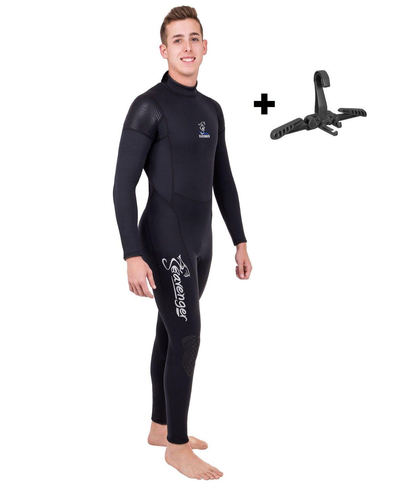 Seavenger Men Stretch 3mm Neoprene Dive Fullsuit Wetsuit XS SCUBA Folding Hanger