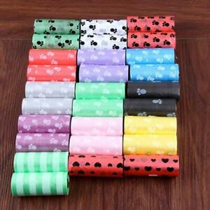 1-5-10-Rolls-Dog-Pet-Puppy-Poo-Poop-Waste-Toilet-Strong-Large-Bags-15pcs-Roll
