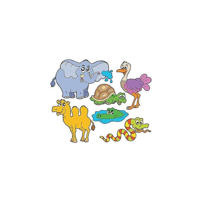 Adesivi Kit Baby Foglio di Adesivi Animali Jungle Ref 3603 (7 Dimensioni)