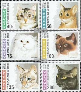 Stamps Benin Benin 668-673 Mint Never Hinged Mnh 1995 Cats