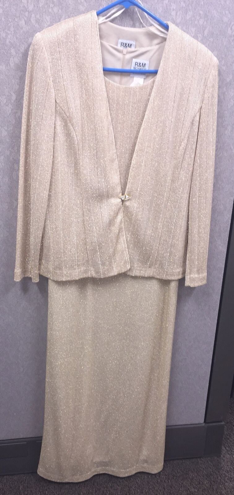 R & M Richards By Karen Kwong Gold Mother Of The Bride Formal Size 10 - 2 Piece