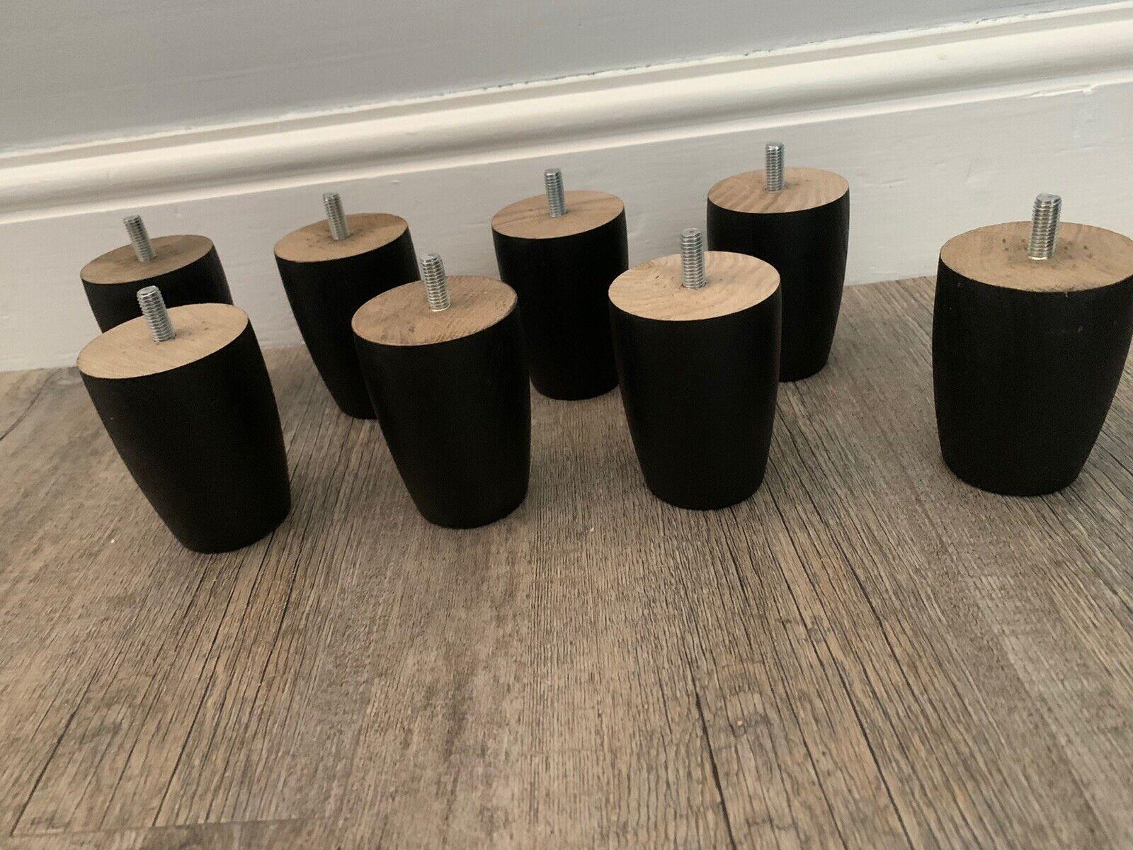 Cajones de muebles patas de madera 4x Negro