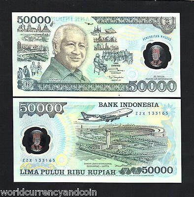 Indonesia  P 134 50,000 50000 50.000 Rupiah 1993 Polymer Commemorative A//U